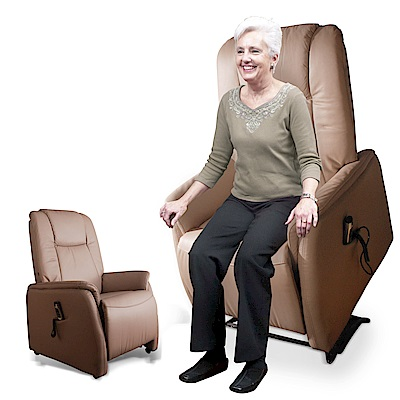 【Sun Pin】Windsor溫莎伯爵半牛皮電動躺椅(雙馬達)-暖灰