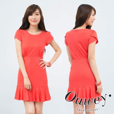 OUWEY歐薇-孔洞針織魚尾裙擺洋裝
