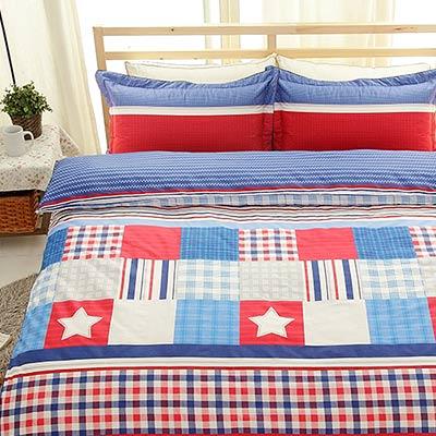 Grace Life 愛弗雷特 精梳純棉加大兩用被床包四件組