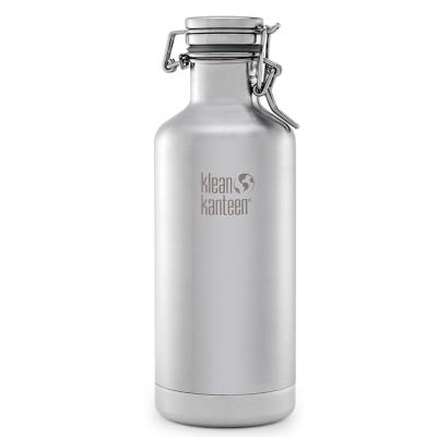 美國Klean Kanteen快扣鋼蓋保冰鋼瓶946ml-原鋼色