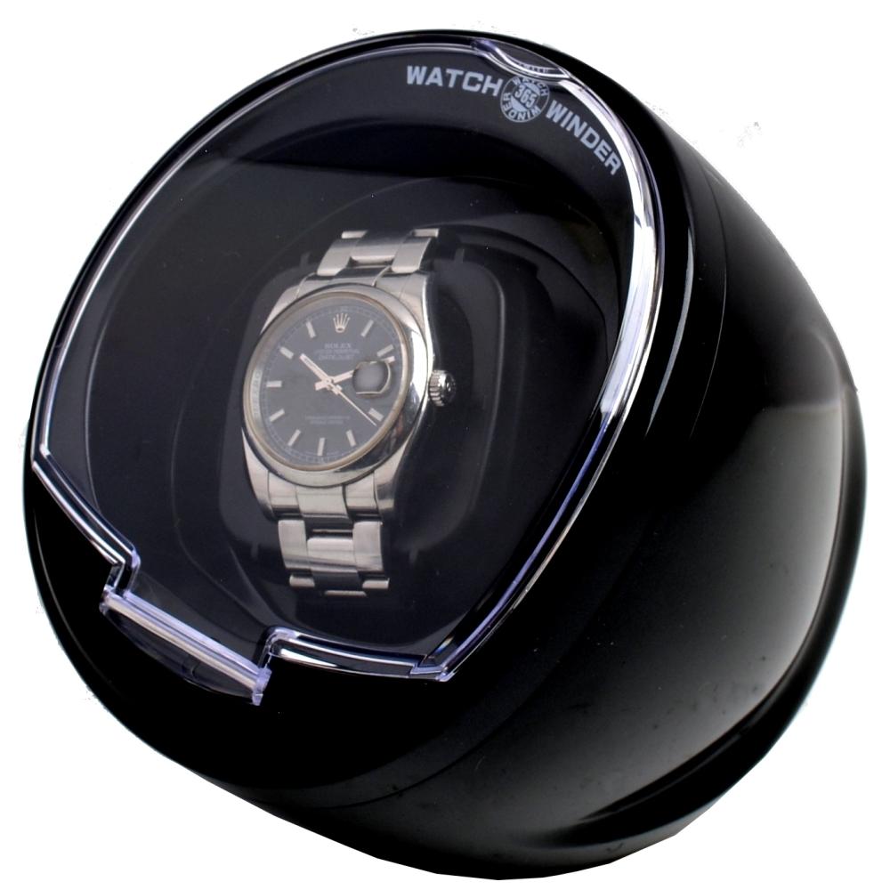 全新MIT蛋型自動腕錶上鍊機單只裝(黑)