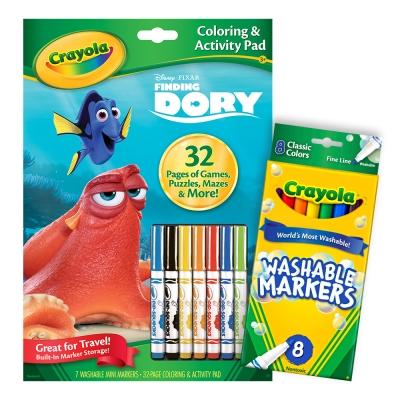 美國crayola海底總動員著色套組3Y含色筆畫簿