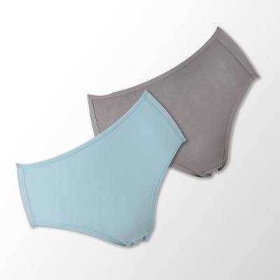 蕾黛絲-伴你一生(竹纖維)棉褲二件包(高腰)M-EL 藍/膚