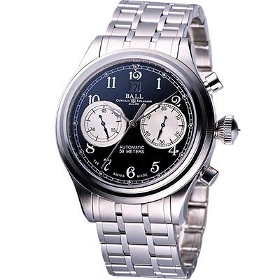 BALL 自體發光雙眼計時機械錶