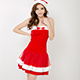 耶誕服 耀眼風格狂熱聖誕舞會角色服(紅F)