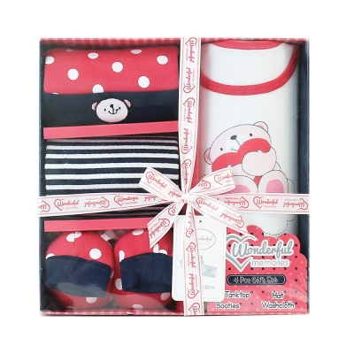美國Elegant kids彌月禮盒-4件式禮盒組