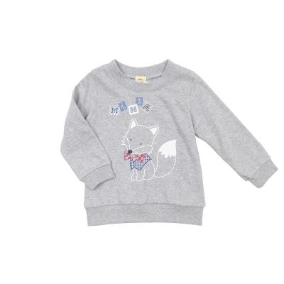 愛的世界 MYBABY 純棉狐狸印圖薄長袖T恤/ 1 ~ 3 歲