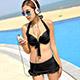 天使霓裳 經典假期 二件式比基尼泳衣(黑M~XL) product thumbnail 1