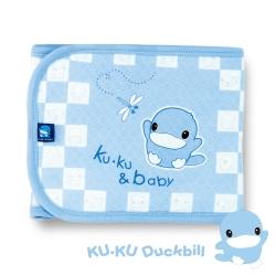 任選-KU.KU酷咕鴨-淘氣保暖肚圍(藍)-L