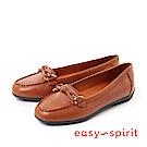 Easy Spirit--復古蝴蝶結樂福平底鞋-都會咖
