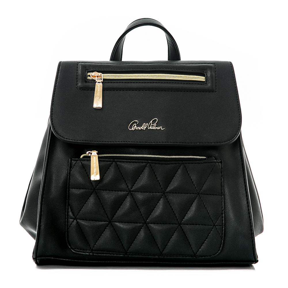 Arnold Palmer- 2WAY後背包 俐落幾何系列-黑色