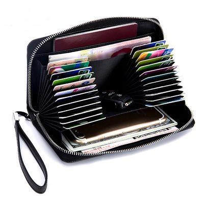 玩皮工坊-真皮二層牛皮24卡位皮夾皮包錢包卡片包手拿包女夾-LH527