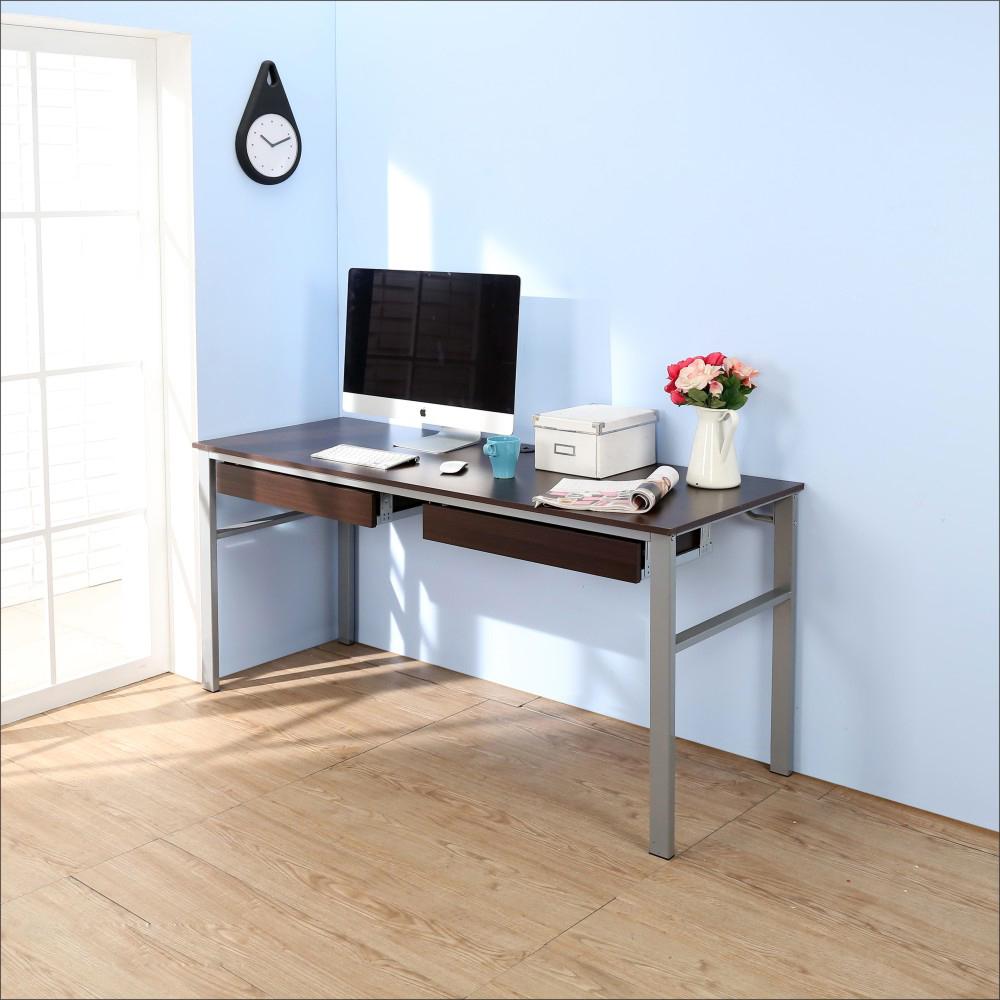 BuyJM低甲醛防潑水160公分雙抽屜穩重型工作桌-DIY