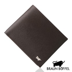 BRAUN BUFFEL - 提貝里烏斯系列4卡零錢袋皮夾 - 咖啡色