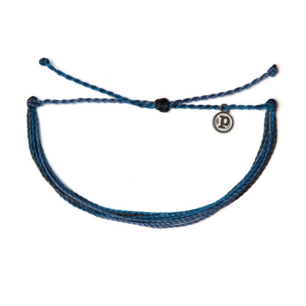 Pura Vida 美國手工DEEP BLUE SEA深藍海色可調式手鍊衝浪海灘防水手繩