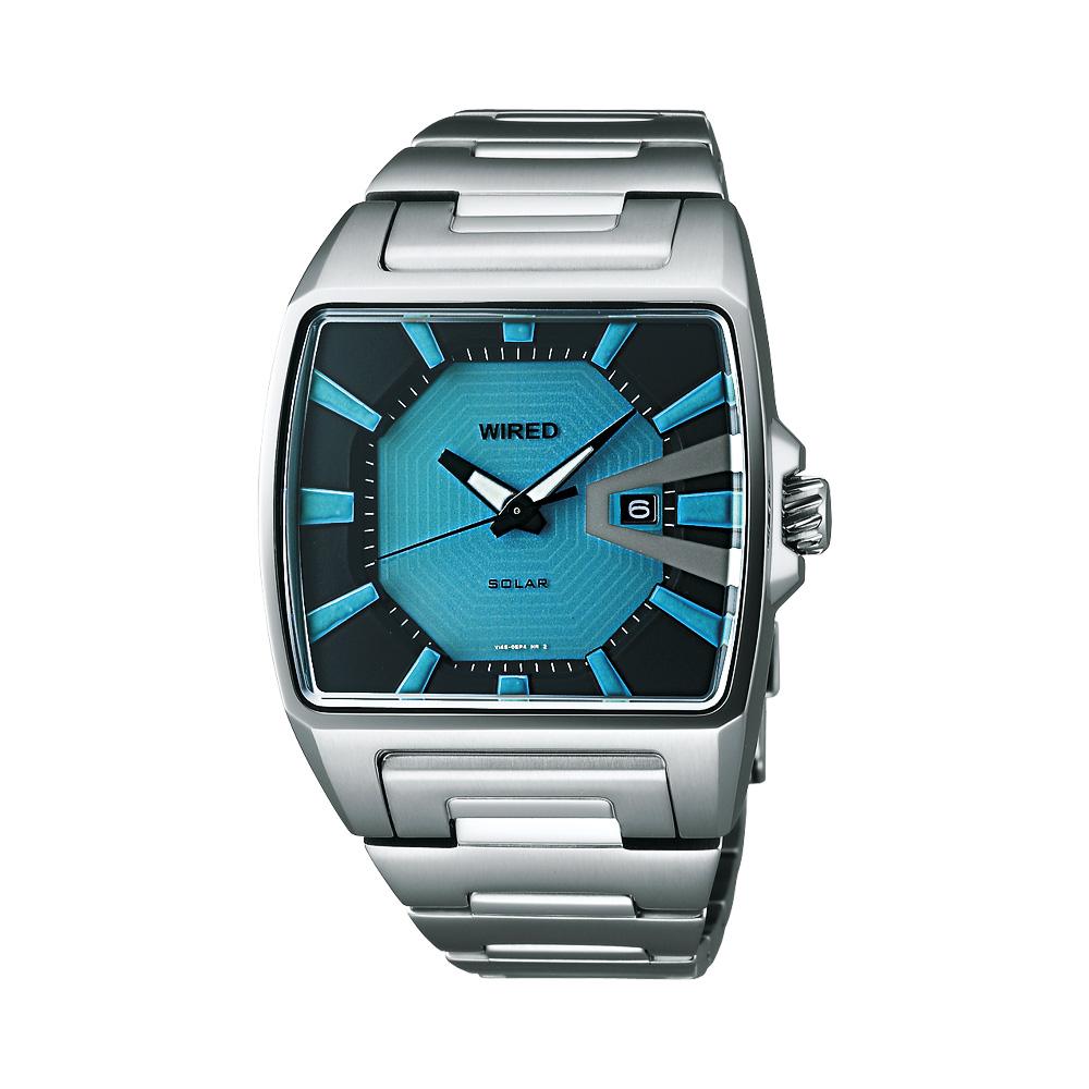 WIRED Solar 日雜時尚太陽能腕錶-土耳其藍