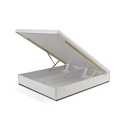 LOHA-原創簡約5尺標準掀床-白色