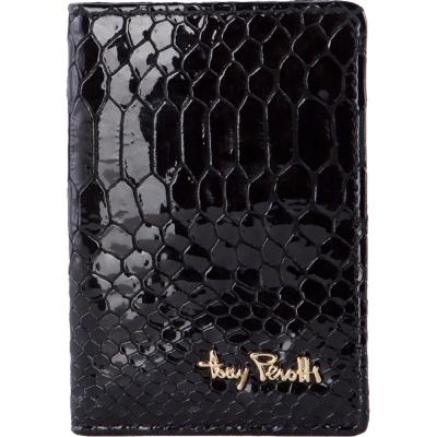 TONY PEROTTI 義大利蟒蛇紋牛皮 名片/卡夾 #3043N ( 黑色 )