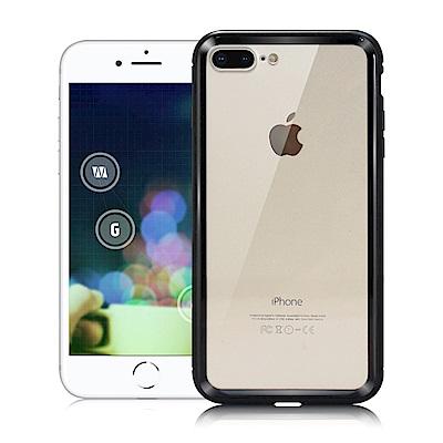 CITY iPhone 8 Plus /7 Plus 酷炫鋁合金磁吸玻璃背蓋手機...
