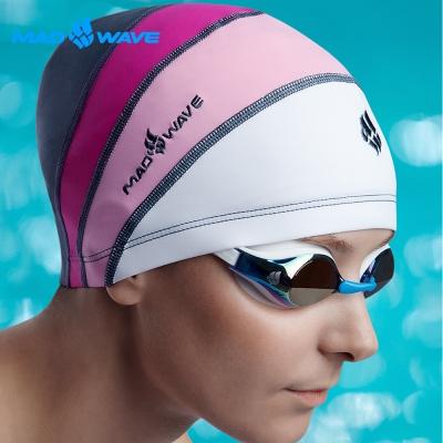 俄羅斯MADWAVE女童專用萊卡泳帽LONG HAIR