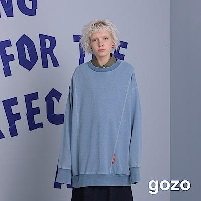 gozo OVERSIZE長版素面衛衣(二色)