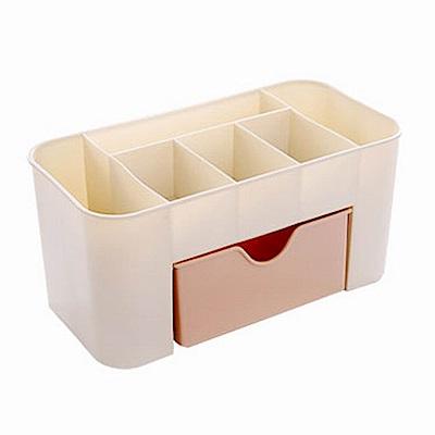 iSFun 北歐色調 桌上抽屜分隔化妝收納盒 2色可選22x11x10.5cm