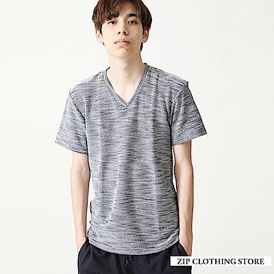夏日涼爽短袖針織衫(4色) ZIP日本男裝