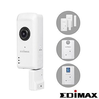 智慧感測組-EDIMAX 訊舟 IC-5170SC 全景式魚眼無線網路攝影機智慧無線感測組合