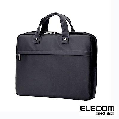 ELECOM 超薄型英倫風公事包15吋黑
