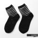 H-CONNECT-韓國品牌-透膚條紋短筒襪-黑色
