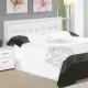 AT-HOME-亞斯5尺白色水鑽雙人床頭片