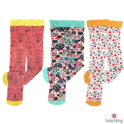 Baby Bling 印花內搭褲襪