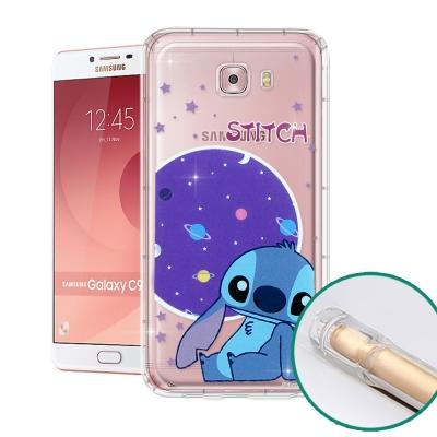 迪士尼正版 Samsung Galaxy C9 Pro 空壓安全手機殼(史迪奇)