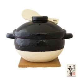 日本長谷園伊賀燒遠紅外線節能-日式炊飯鍋 (3-4人份)