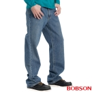 【BOBSON】男款嘻哈酷中直筒牛仔褲(藍58)