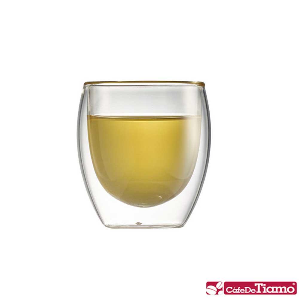 Tiamo DC-XL-1602雙層玻璃杯 100cc / 6入(HG2052)