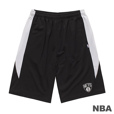 NBA-布魯克林籃網隊LOGO印花短褲-黑 (男)