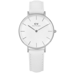 Daniel Wellington Classic 清新經典真皮手錶-白色/32mm