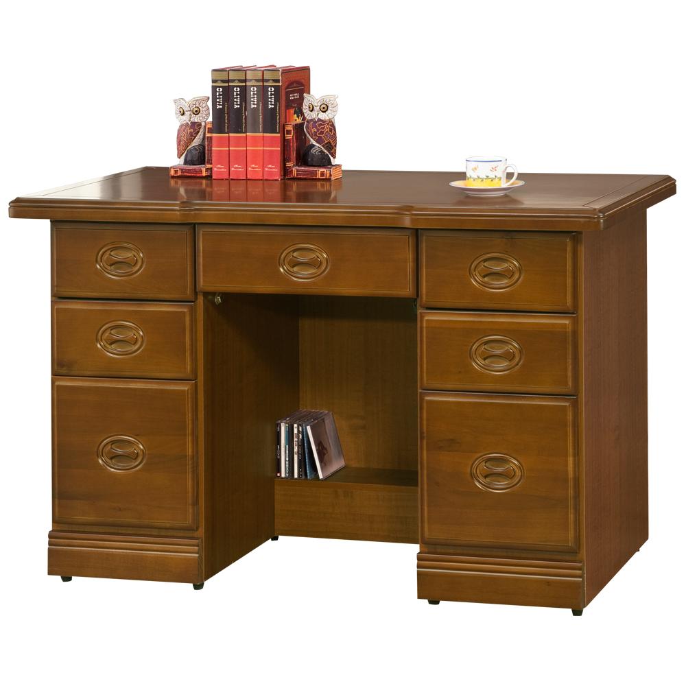 時尚屋 皇家樟木4.2尺辦公桌 寬127.3cm