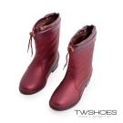 TW Shoes可拆式保暖內堣今帖B鞋/雨靴-紅