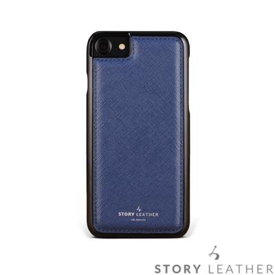 STORYLEATHER i7 / i8 4.7吋 手機殼 十字紋深藍現貨