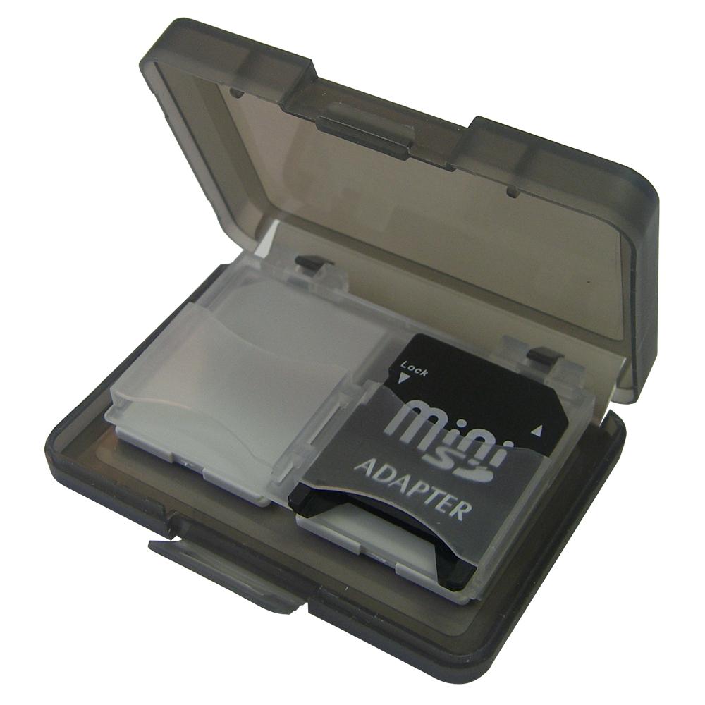 【質感黑】易可4卡1入記憶卡保存盒(2入)