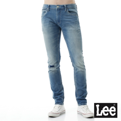 Lee 牛仔褲Jade Fusion冰精玉石 709低腰合身小直筒膝蓋拼接