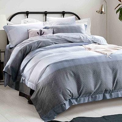 Saint Rose 摩卡-灰 加大吸濕排汗天絲兩用被套床包四件組