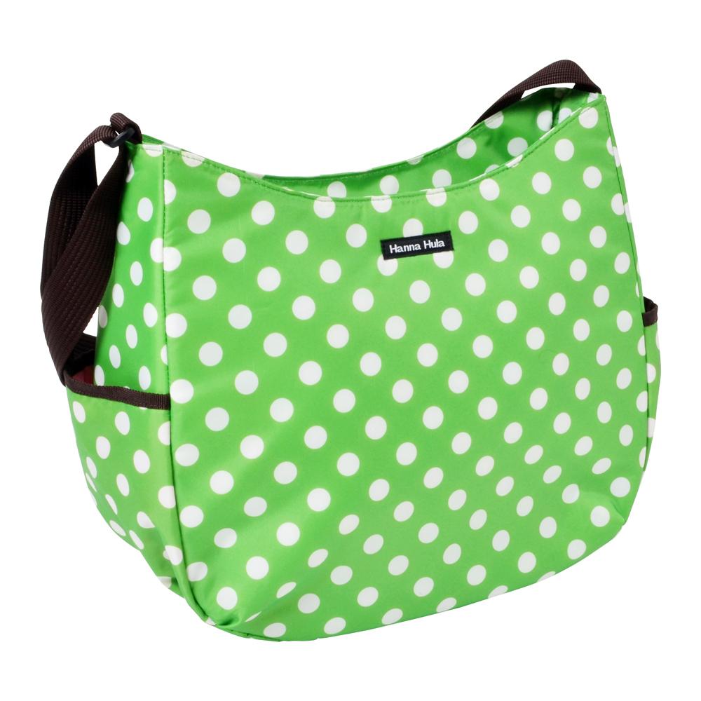 日本Hanna Hula-V型斜背包/媽媽包(圓點綠)