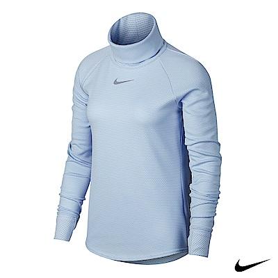 Nike AeroReact 女運動長袖高領上衣 藍 869462-466