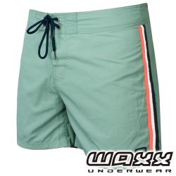WAXX 經典系列-運動健身吸濕排汗海灘褲(15吋-灰綠色)