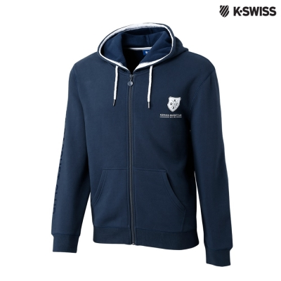 K-Swiss SRC Hoodie Jacket休閒連帽外套-男-藍灰