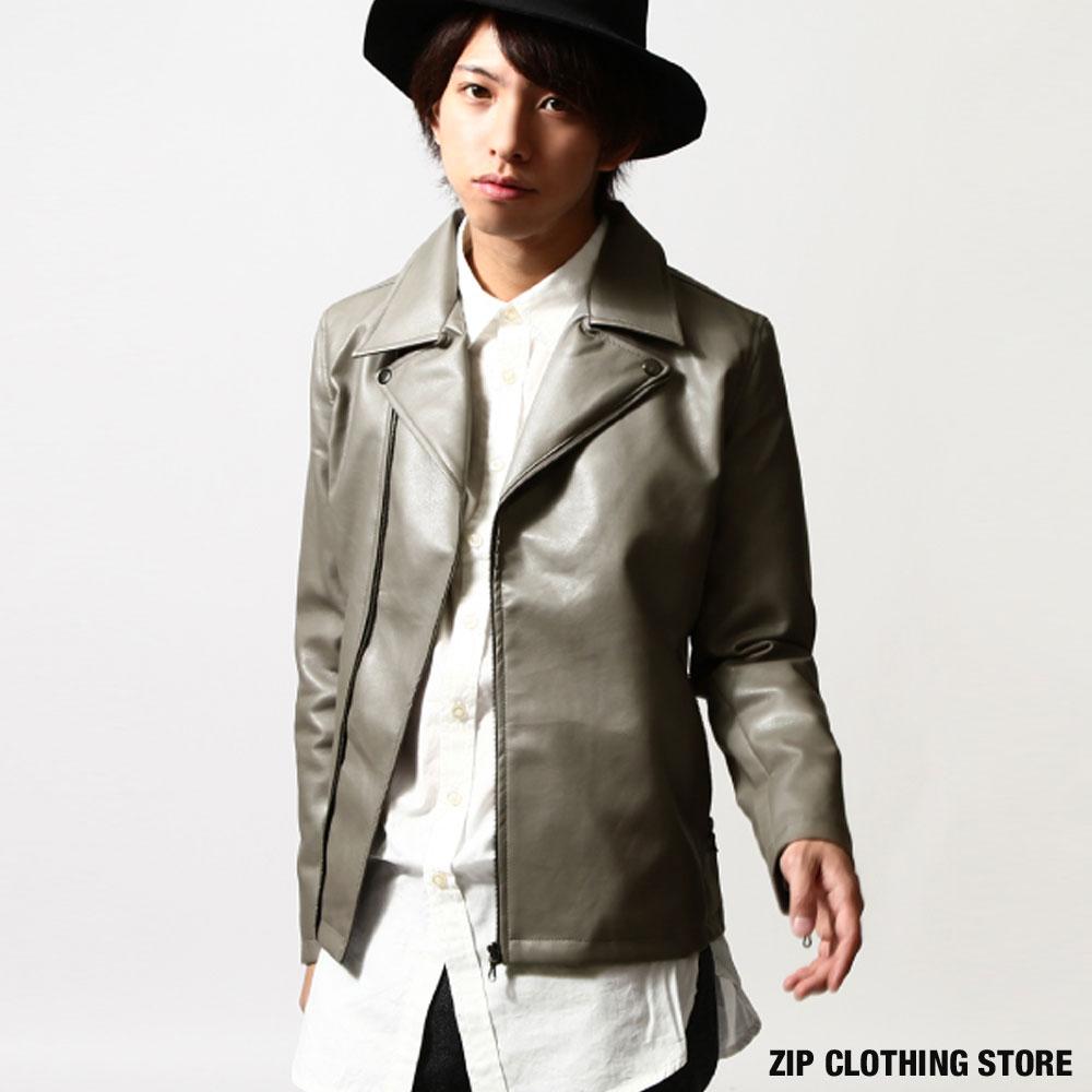 翻領皮衣夾克騎士外套ZIP日本男裝