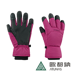 【ATUNAS 歐都納】A-A1743 紅葡萄M號 防水蓄溫保暖透氣輕量手套